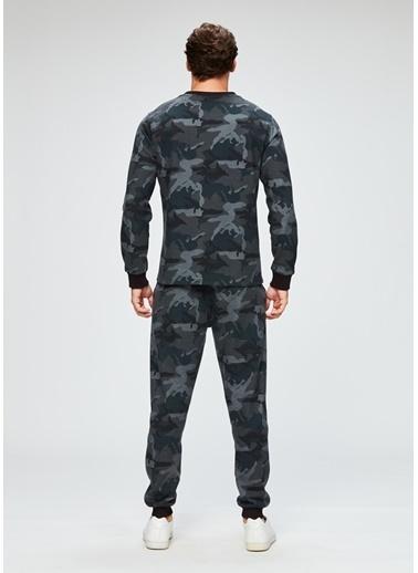 Dagi Pike O Yaka Uzun Kollu Pijama Takımı Füme